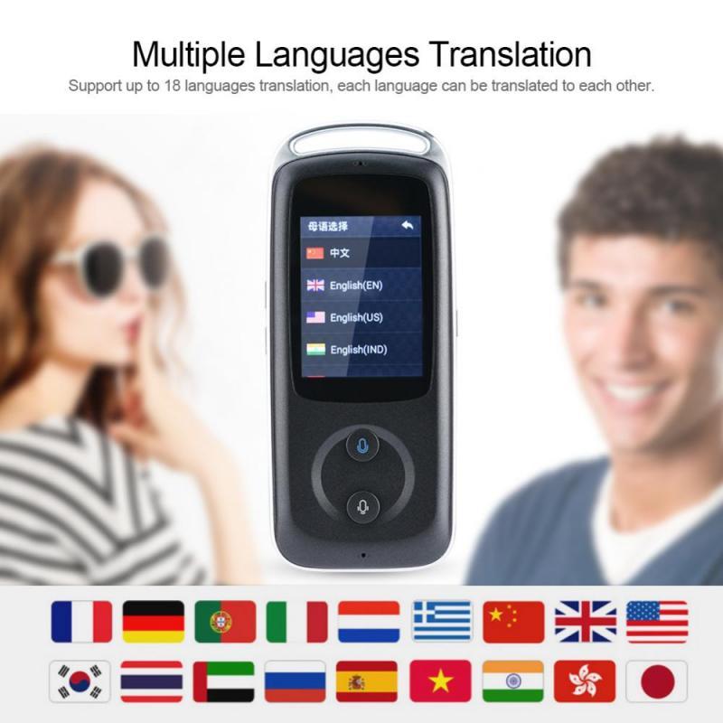 все цены на WIFI Portable Smart Real Time WIFI Voice Translator 1200mAh Multilingual HIFI Speaker Intelligent Translator with Touch Screen онлайн