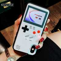 KISSCASE Game Phone Case For iPhone 6 6S 7 8 Plus X Classic Retro Color Screen Game Case For iPhone X XR XS MA Fundas Capas X