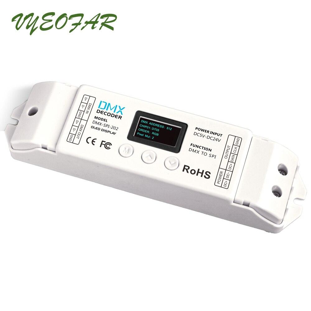 LTECH DMX-SPI-202; décodeur de DMX-SPI; 16 modes; support WS2801/WS2811/WS2812/WS2812B/TM1804/TM1809/INK1003/1903.etc IC livraison gratuite