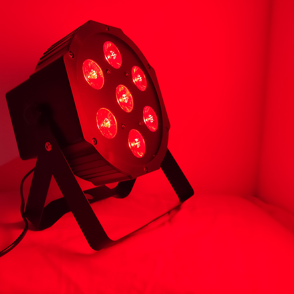 Led Par Can disco lights 7x12w LED DMX512 RGBW 7 Lighting Modes Disco Lighting Effect Dj Stage Lights Sound Activated