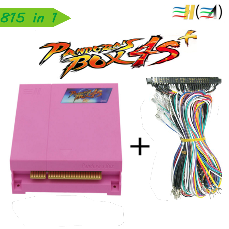 NEW ARRIVE pandora box 4s plus 815 in 1    jamma arcade multi game board pcb multigame card cga & vga & HDMI  output 815 in 1 original pandora box 4s plus arcade game cartridge jamma multi game board with vga and hdmi output