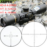 SNIPER VT 3 12X32 / HD 8 4 20X50 / VT 4 16X40 First Focal Plane Rifle Scope Reticle Tactical Optical Sight FFP Riflescopes