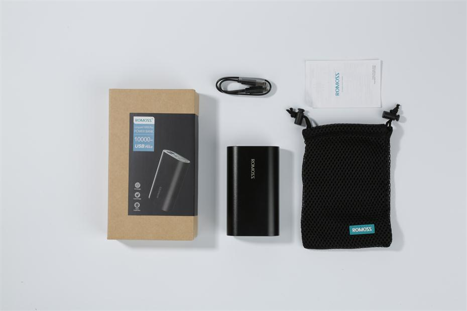 10000mAh Power Bank Romoss SE10+ Package