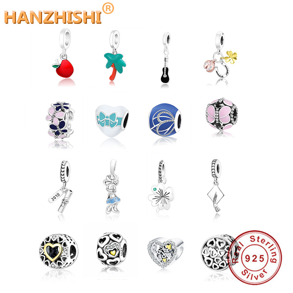 Fits Original Pandora Charms Bracelet DIY Jewelry Making New Fashion 925 Sterling Silver 2019 Number Books Dangle Charm Beads jewelry making