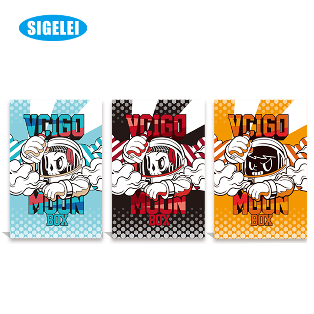 Colorful Electronic Cigarette Original Sigelei Vcigo Moon box Mod 200W Big Power Compatible with Dual 18650 Battery