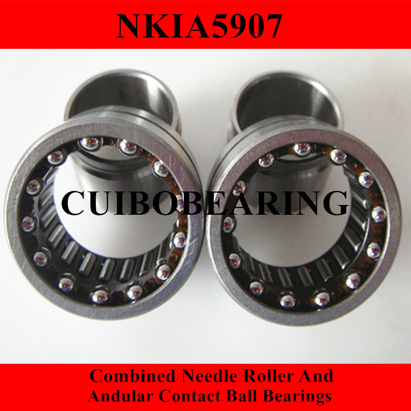 NKIA  Combined Needle Roller And Angular Contact Ball Bearing NKIA5907 35X55X27 0 25mm 540 needle skin maintenance painless micro needle therapy roller black red