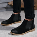British Style Men Ankle Boots,Warm Fur Snow Motocycle Botas Quality Leather suede Chelsea Boots Bullock Shoes