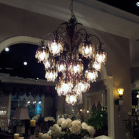 American Country Living Room Restaurant Chandelier Lighting Engineering Decoration Exhibition Hall Crystal Large Chandeliers