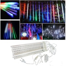 led waterproof snowfall meteor light christmas lights outdoor 100 240v - Snowfall Christmas Lights