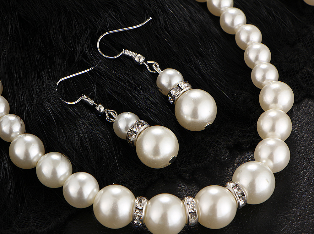 Fashion Simulated Pearl Bridal Jewelry sets For Women 29