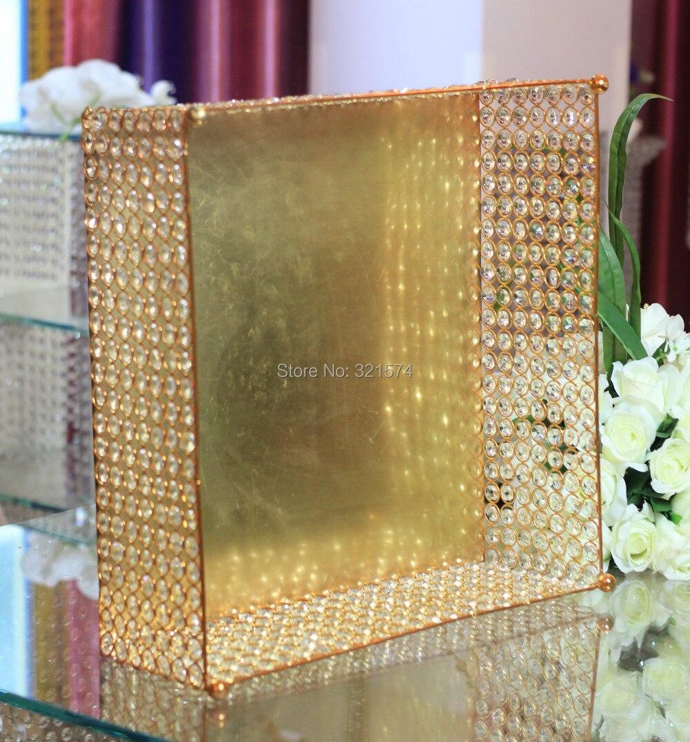 Wholesale 4pcs/lot Square crystal cake stand wedding decoration ...