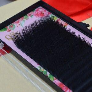 Image 2 - QSTY,16 satır, sahte vizon bireysel kirpik uzatma, cilia lashes uzatma için profesyoneller, yumuşak vizon kirpik uzatma
