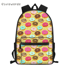 ELVISWORDS Fashion Children's School Backpack Kawaii Animal and Food Students School Book Bags for Boys Girls Travel Backpacks bad dog mr panda embossing boys and girls students bag backpacks school travel backpack famous brand cartoon bags 2016 new hot