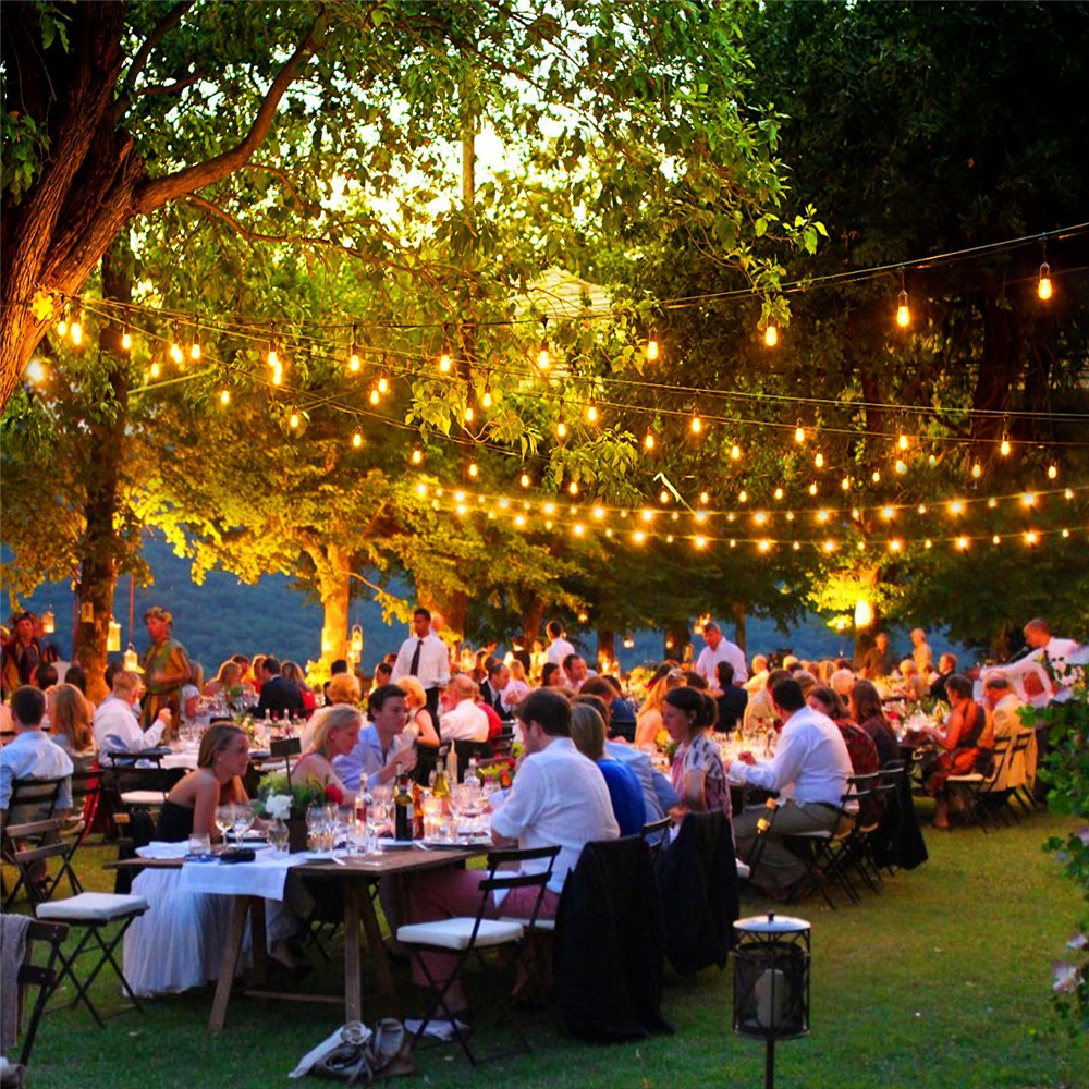 10X 10M Patio E27 String Lights Dinner Party Garden Bar
