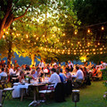 10X 10M Patio E27 String Lights Dinner Party Garden Bar Dancing String Light with 10 Led Filament Bulbs Celebrating the Night!