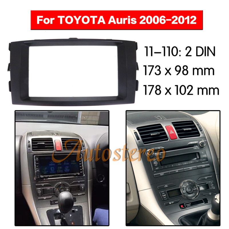 Car Radio Fascia Surround For 2006 2012Toyota Auris Car Radio Refitting Outter Frame For 2006 2012Toyota