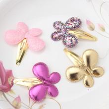 Cute Children Baby Girls Kids Party BB Hair Clips Star Heart Princess Barrettes Ribbon Shiny Glitter Butterfly Hairpins Headwear