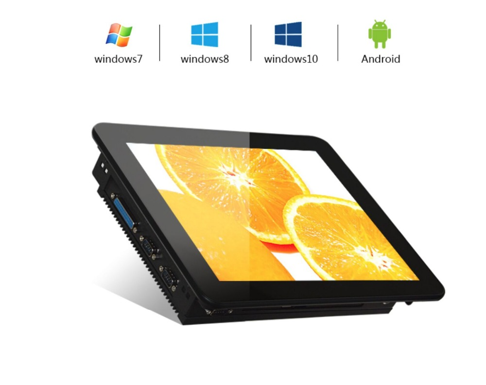 12.1 Inch Resistive Intel J1900 Industrial Touch Panel Computer , HD IP65