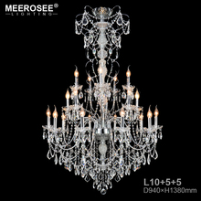 Modern New Crystal Staircase Lighting Project Chandelier Crystals Lamp E14 Candle Lustre Long Stair Hanging Light for Villa
