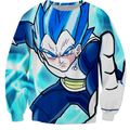 Newest Style Anime Dragon Ball Z Sweatshirts Men Women Long Sleeve Outerwear Classic Vegeta Crewneck Pullovers