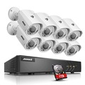 ANNKE 5 in1 1080P Lite 8CH DVR 8x720P 100ft Night View Security Camera System 1TB