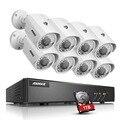 Annke 5 in1 1080 p 8ch dvr 8x720 p visión nocturna 100ft lite sistema de cámaras de seguridad 1 tb