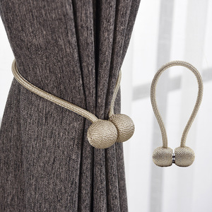 Magnetic Pearl Ball Curtain Tiebacks Tie Backs Holdbacks Buckle Clips Accessory Curtain Rods Accessoires(China)