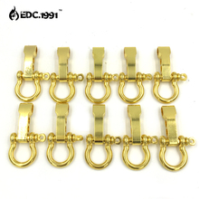 10 Pcs/lot Stainless Steel Adjustable paracord buckles PARACHUTE CORD LANYARD BRACELET SHACKLES BUCKLES Gold color EDC tools survival nylon bracelet with stainless steel buckles beige black