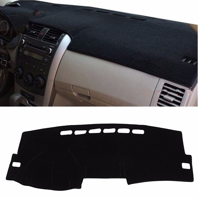 Black 135 x 20 cm Inner Dashboard Dash Mat DashMat Sun Cover Pad For Toyota /Corolla 2007-2013