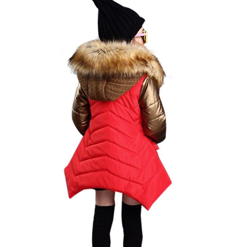 2018 Moda Kızlar Kış Ceket Yeni Marka Stil Uzun Kürk Kapşonlu - Çocuk Giyim - Fotoğraf 5
