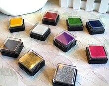 4cm Ink Pad Scrapbooking Colorful Inkpad Stamp Sealing Decoration Fingerprint Stencil Card Making DIY Crafts