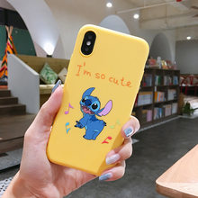 Cartoon Cute Stich Stitch Phone Case For iPhone 7 8 6 6s Plus X XR XS MAX Soft Silicone TPU Cover Coque Fundas For Iphone XR(China)