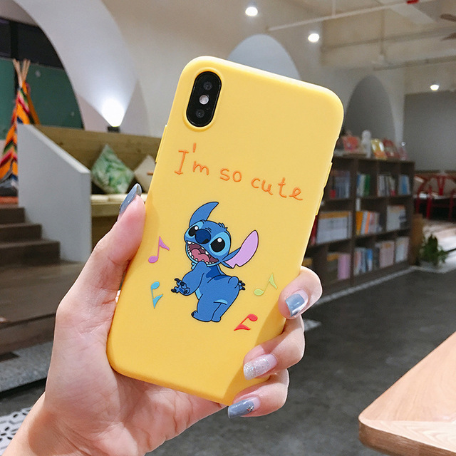 Funda de teléfono de dibujos animados Stich Stitch para iPhone 7 8 6 6s Plus X XR XS MAX silicona suave funda de TPU funda para Iphone XR