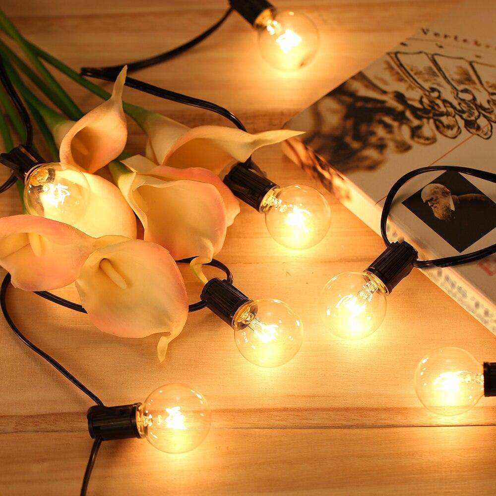 25 para Seqüência de Luz de Casamento Festa Em Casa Quente branco