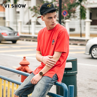 VIISHOW Fashion Funny Printed Men T Shirt Short Sleeve Casual T Shirt Hipster Pattern Tees Cool