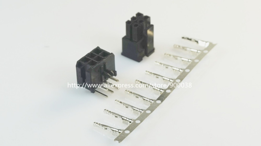 100 sets Micro Fit connector 3 0mm 2x3 Pin 6 P Wafer right angle Plus Receptacle