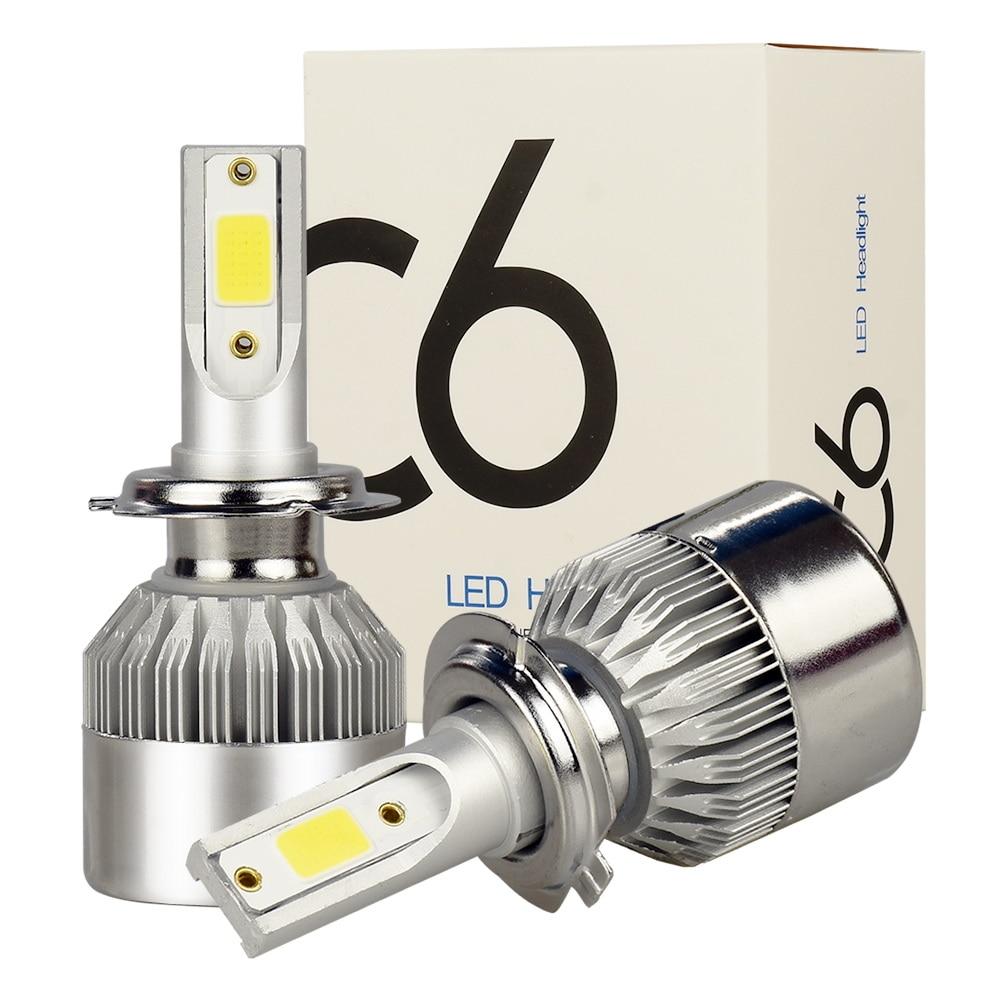 SATTVAM Car Led Headlights H4 H7 H8 H11 H1 9005 HB3 9006 HB4 9004 9007 H3 880 H13 50W 7600LM Auto Bulb LED Headlamps 6000K Light