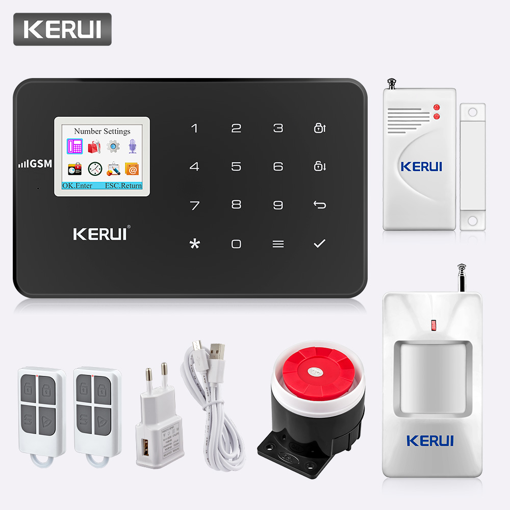 KERUI G18 Wireless GSM Home Security Alarm System Burglar Alarm Sensor Kit With Auto Dial Motion