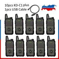 10 шт. WLN KD-C1 Plus UHF мини Портативная рация с скремблером FM трансивер KD-C1 плюс двухстороннее радио Ham коммуникатор