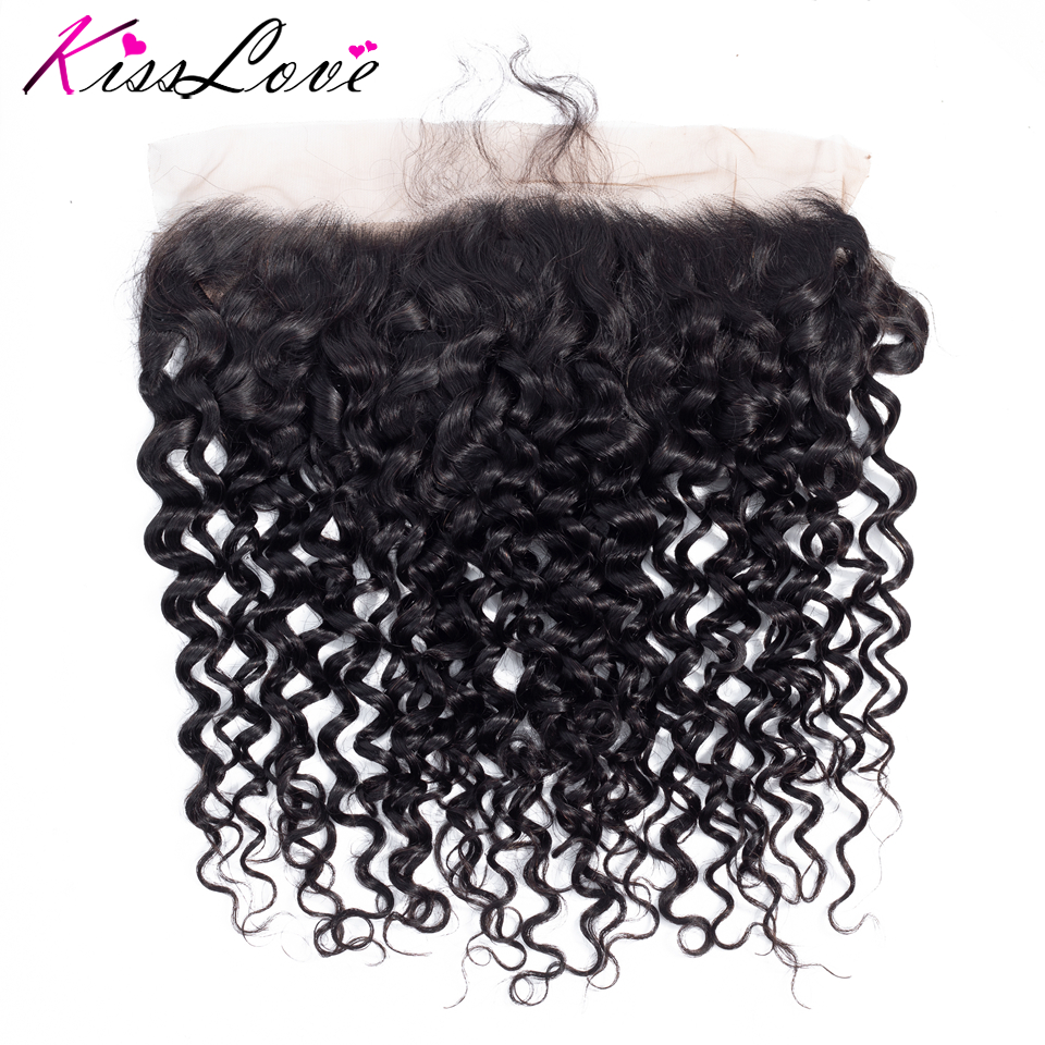 13x4 Ear To Ear Full Lace Frontal Closure With Baby Hair Brazilian Hair Deep Wave 13x4 Free Part Human Hair Closure Natural