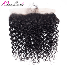Frontal-Closure Human-Hair Deep-Wave Full-Lace 13x4 Free-Part Natural To Ear with Baby