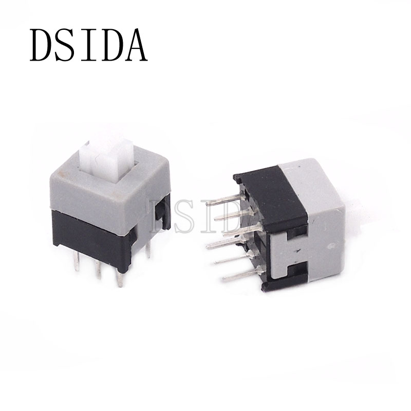 Electronic Components & Supplies Flight Tracker 8.5mm*8.5mm Push Tactile Power Micro Switch Self Lock On/off 8.5x8.5mm