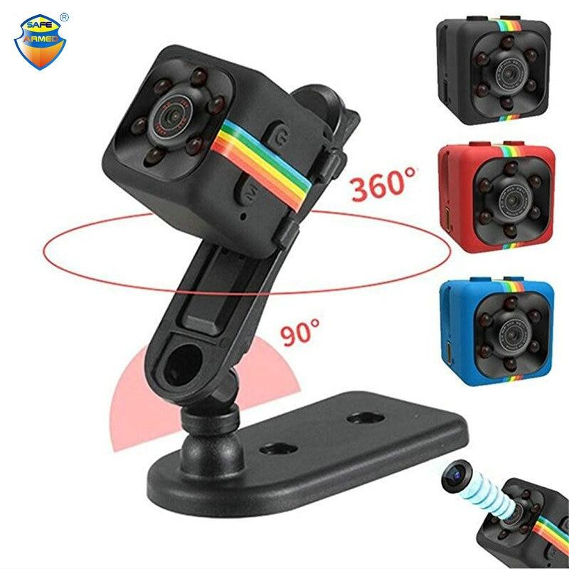 (1 Set) SQ11 Mini 1080P Camera 12MP Night Vision Camcorder Video Recorder Sport Camera Mini HD DV Camera WIth TF Card Slot USB lc 08 mini dv headphone 1080p hd sport dv bluetooth headset stereo neck strap video recorder