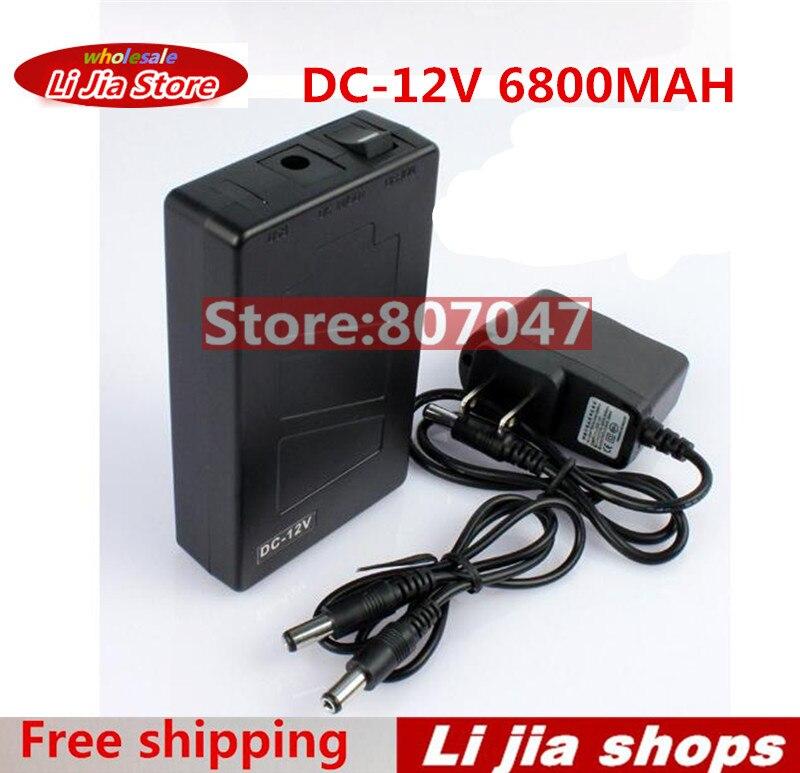 Capacità Super portatile Ricaricabile agli ioni di Litio Battery Pack DC 12 V 6800 mAh EU/US spina per CCTV Cam Monitor Spedizione Gratuita