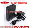 Portable Super Capacity Rechargeable Lithium-ion Battery Pack DC 12V 6800mAh EU/US plug for CCTV Cam Monitor Free Shipping
