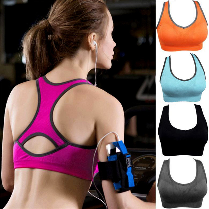 Womens Sports Tops 2018 Athletic Sports Bra Push Up Sports Brassiere fitness women leggings Running Padded Fitness Top Vest #2S2 (3)