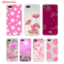 Silicone Phone Case Cute flowers art for Xiaomi Redmi S2 Note 4 4X 5 5Pro 5A Plus 6 6A 7 Pro Cover