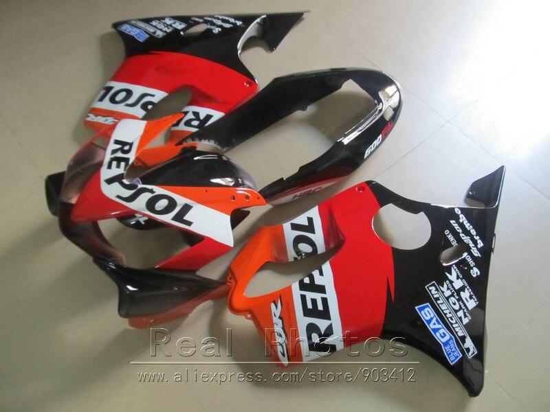 Литьевая форма ABS пластик обтекатель комплект для Honda CBR600 F4I 04 05 06 07 оранжевые черные Обтекатели набор 2004 2007 CBR600 F4I BN21 - 2