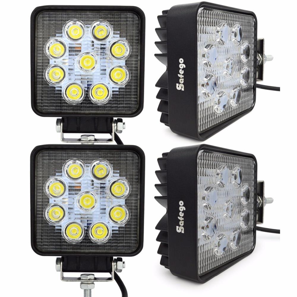 Safego 4ks 27w vedl pracovní světlo bodové pracovní světlo pro motocykl Jízda Offroad Boat Car Truck Truck 4x4 SUV ATV 12V