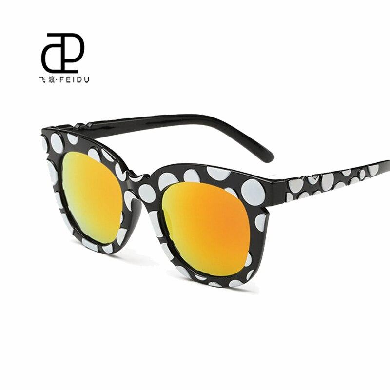 FEIDU 2016 <font><b>High</b></font> <font><b>Quality</b></font> Cat Eye Sunglasses Women Multicolor <font><b>Frame</b></font> Women's Sun <font><b>Glasses</b></font> For Women Driving Oculos De Sol Feminino